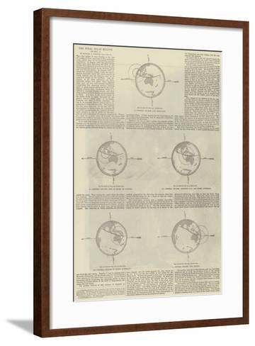 The Total Solar Eclipse of 12 December--Framed Art Print