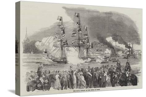 The Naval Combat on the Seine, at Paris--Stretched Canvas Print