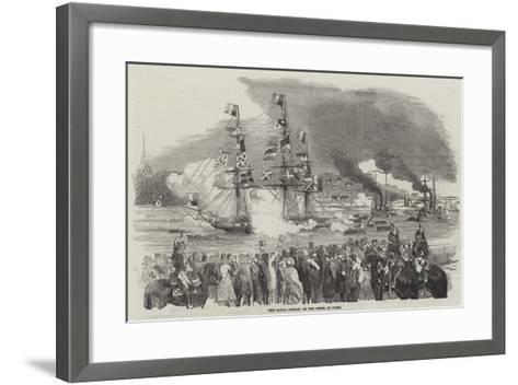The Naval Combat on the Seine, at Paris--Framed Art Print