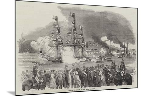 The Naval Combat on the Seine, at Paris--Mounted Giclee Print