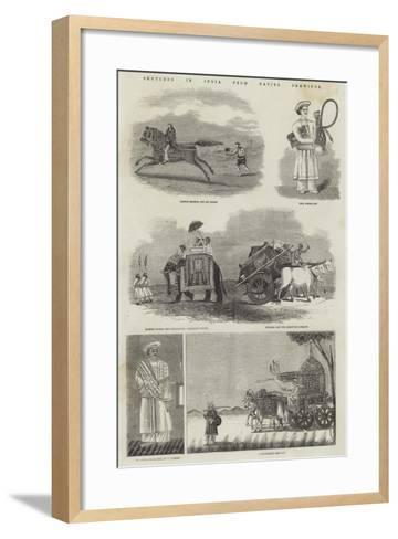 Sketches in India from Native Drawings--Framed Art Print