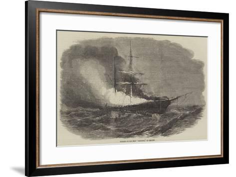 Burning of the Ship Madonna, of Belfast--Framed Art Print