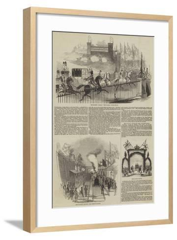 Her Majesty's Late Visit to Burghley--Framed Art Print