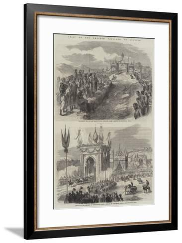 Visit of the Emperor Napoleon to Algeria--Framed Art Print