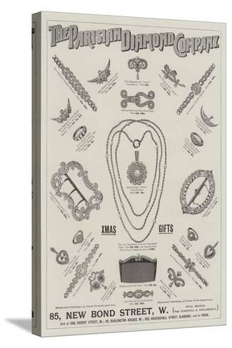 Advertisement, Parisian Diamond Company--Stretched Canvas Print