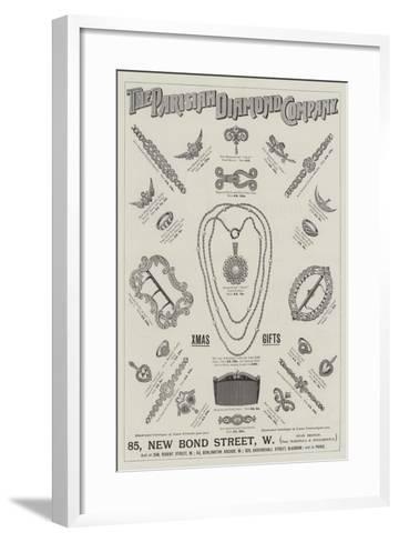 Advertisement, Parisian Diamond Company--Framed Art Print