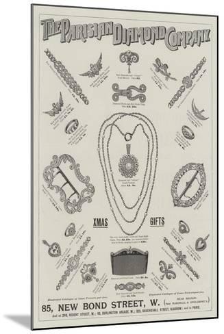 Advertisement, Parisian Diamond Company--Mounted Giclee Print