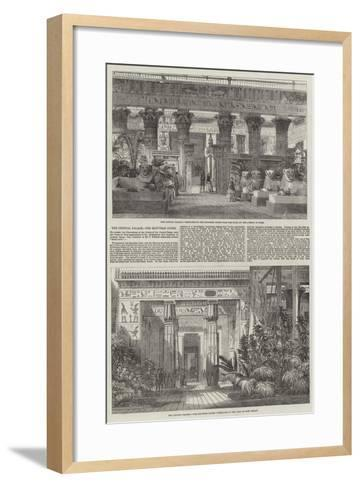 The Crystal Palace, the Egyptian Court--Framed Art Print