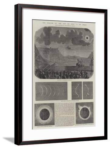 The Eclipse of the Sun on 18 July in Spain--Framed Art Print
