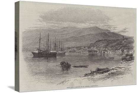 Town and Harbour of St Pierre, Martinique--Stretched Canvas Print