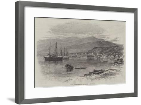 Town and Harbour of St Pierre, Martinique--Framed Art Print