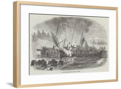Boats Reconnoitring the Passage to Wyborg--Framed Art Print
