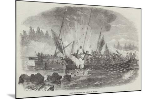 Boats Reconnoitring the Passage to Wyborg--Mounted Giclee Print