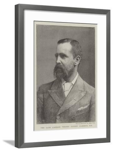 The Late Captain Verney Lovett Cameron, Rn--Framed Art Print