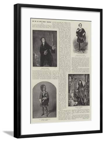How the Old Actors Dressed Shakspere--Framed Art Print