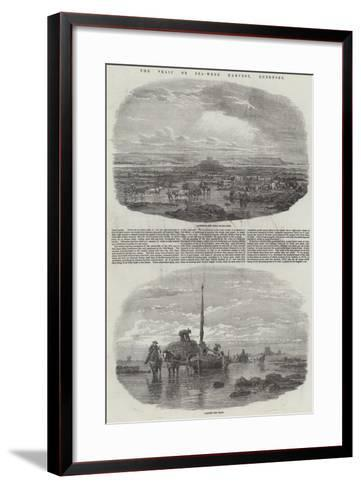 The Vraic or Sea-Weed Harvest, Guernsey--Framed Art Print