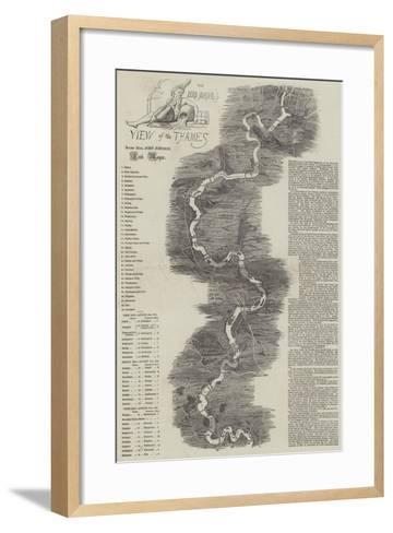The Lord Mayor's View of the Thames--Framed Art Print