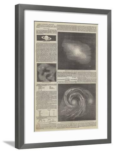 Great Astronomical Discoveries--Framed Art Print