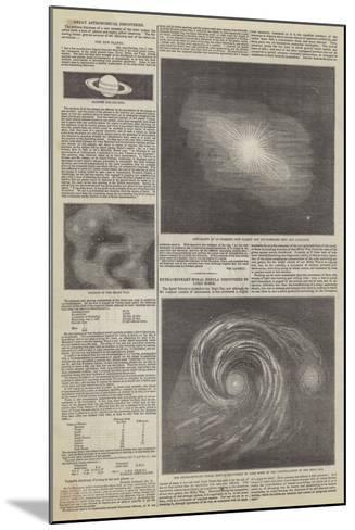 Great Astronomical Discoveries--Mounted Giclee Print