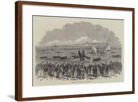 Race of Six Life-Boats at Penzance--Framed Art Print