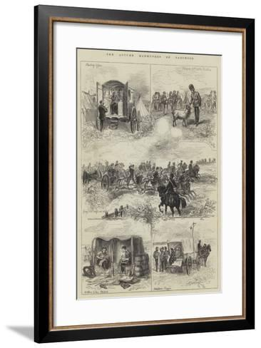 The Autumn Manoeuvres on Dartmoor--Framed Art Print