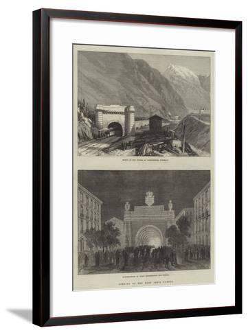 Opening of the Mont Cenis Tunnel--Framed Art Print