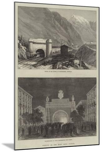 Opening of the Mont Cenis Tunnel--Mounted Giclee Print