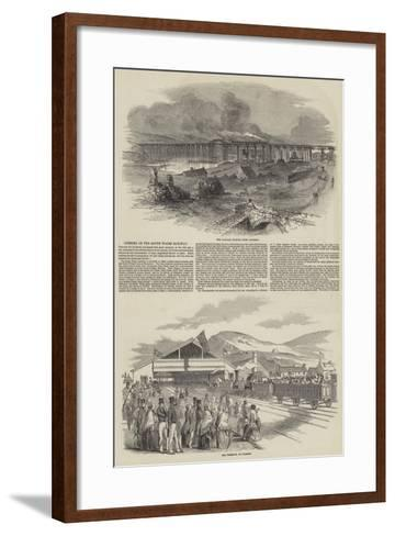 Opening of the South Wales Railway--Framed Art Print