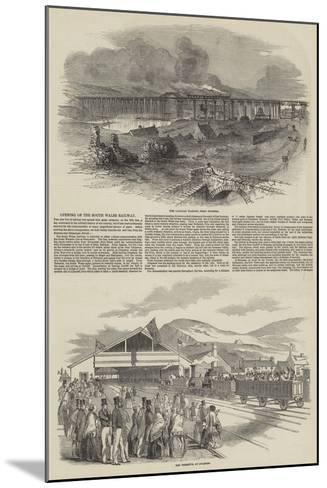 Opening of the South Wales Railway--Mounted Giclee Print