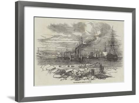War-Steamers in Kingstown Harbour--Framed Art Print