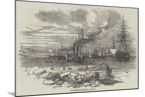 War-Steamers in Kingstown Harbour--Mounted Giclee Print