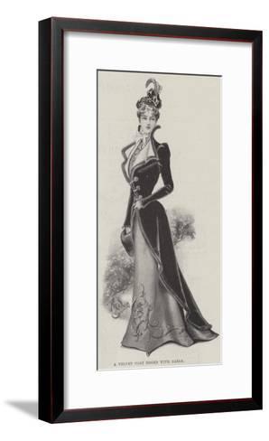 A Velvet Coat Edged with Sable--Framed Art Print
