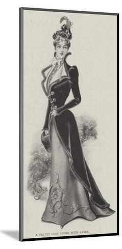 A Velvet Coat Edged with Sable--Mounted Giclee Print