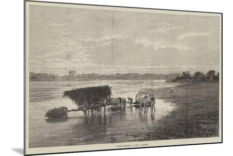 River Scenery in India, Sunset--Mounted Giclee Print