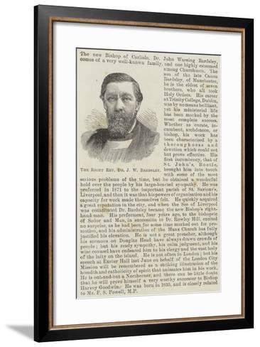The Right Reverend Dr J W Bardsley--Framed Art Print