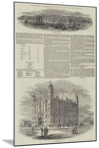 Prince Albert's Visit to Liverpool--Mounted Giclee Print