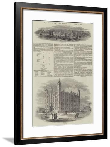 Prince Albert's Visit to Liverpool--Framed Art Print