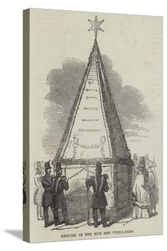 Obelisk in the Rue Des Vieillards--Stretched Canvas Print