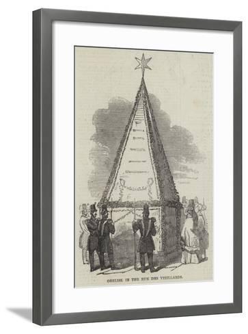 Obelisk in the Rue Des Vieillards--Framed Art Print
