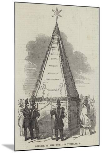Obelisk in the Rue Des Vieillards--Mounted Giclee Print