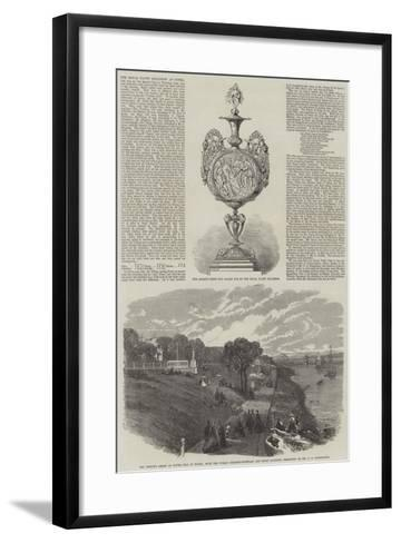 The Royal Yacht Squadron at Cowes--Framed Art Print