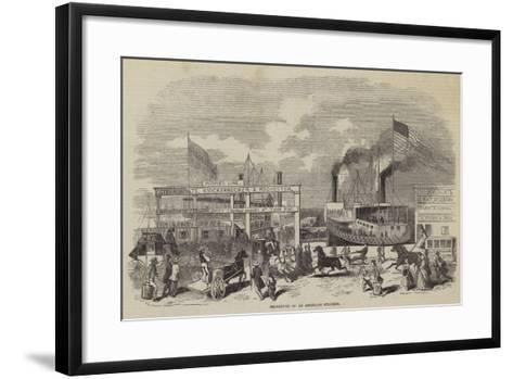 Departure of an American Steamer--Framed Art Print