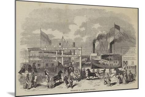 Departure of an American Steamer--Mounted Giclee Print