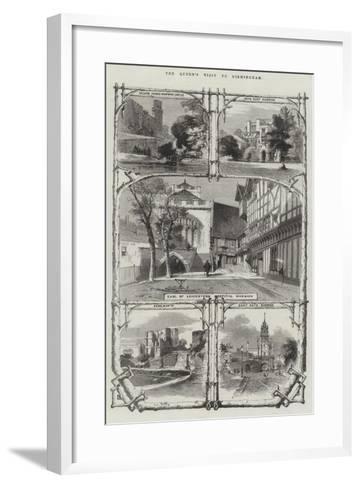 The Queen's Visit to Birmingham--Framed Art Print