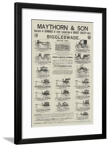 Advertisement, Maythorn and Son--Framed Art Print