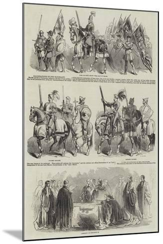 Illustrations of the Mayoralty--Mounted Giclee Print