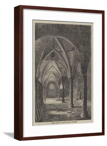 The Crypt of Gisors Hall, Cleared--Framed Art Print