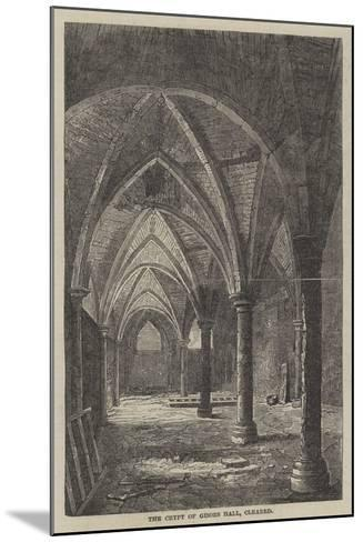 The Crypt of Gisors Hall, Cleared--Mounted Giclee Print
