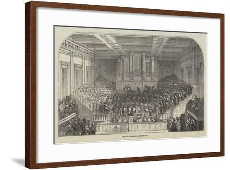 The New Orchestra, Exeter Hall--Framed Art Print