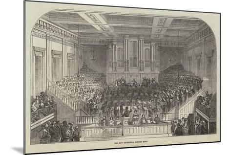 The New Orchestra, Exeter Hall--Mounted Giclee Print